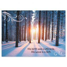 Woodland Miracle Christmas Cards - Nonpersonalized