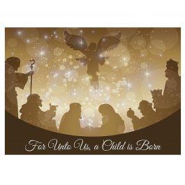 Golden Illumination Christmas Cards - Personalized