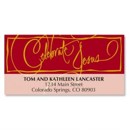 Faith Calligraphy Deluxe Address Labels