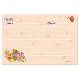 Harvest Recipe Cards - 4 x 6
