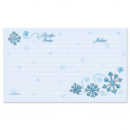 Blue Snow Recipe Cards - 3 x 5