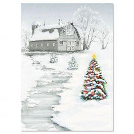 Winter Barn Christmas Cards