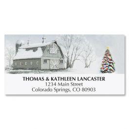 Winter Barn Address Labels
