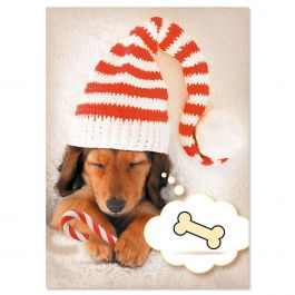 Holiday Dreams Nonpersonalized Christmas Cards - Set of 18