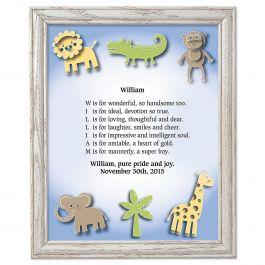 Zoo Animals Framed Name Poem Print Current Catalog