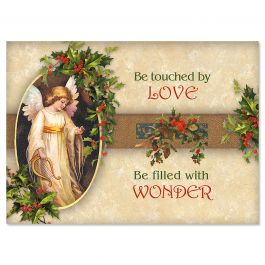 Victorian Angel Christmas Cards - Personalized