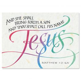 Call His Name Jesus Christmas Cards - Personalized