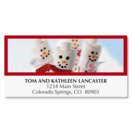 Merry Marshmallows Deluxe Address Labels