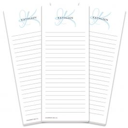 Initial Lined Shopping List Pads Current Catalog