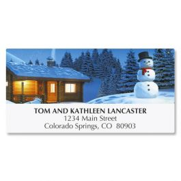 Peaceful Night Deluxe Address Labels