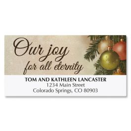 Pine Ornaments Deluxe Address Labels