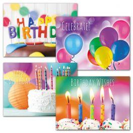 Rainbow Colors Birthday Cards