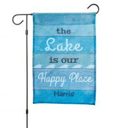 Personalized Lake Garden Flag