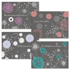 Gray Reflections Sympathy Cards