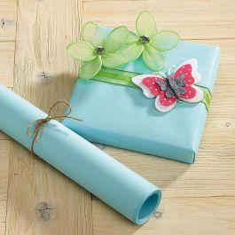 Pastel Blue Kraft Gift Wrap