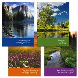Photo Landscape Birthday Cards