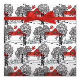 Country Christmas Jumbo Rolled Gift Wrap