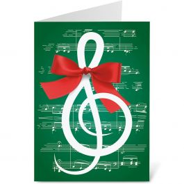 Merry Melody Christmas Cards - Personalized