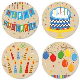 Kraft Birthday Seals