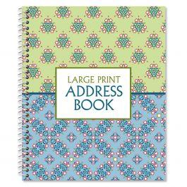 Fresh Patterns Large Print Address Book Current Catalog