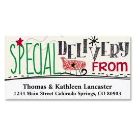 Santa's Rules Deluxe Address Labels