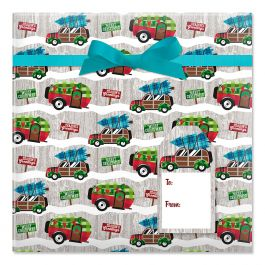 Christmas Camping Jumbo Rolled Gift Wrap Current Catalog