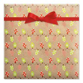 Kraft Holiday Lights Jumbo Rolled Gift Wrap