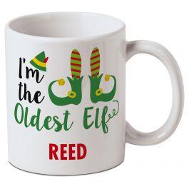 Personalized Oldest Elf Mug