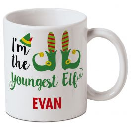 Personalized Youngest Elf Mug