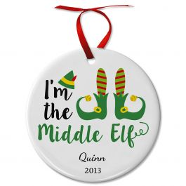 Personalized Middle Elf Ceramic Ornament