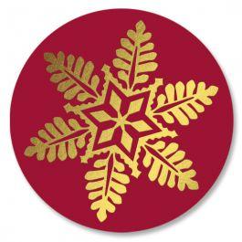 Snowflake Wreath Seals