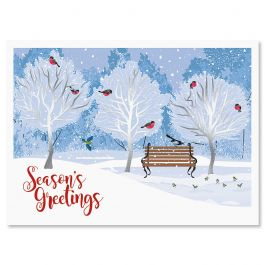 Winter Trees Deluxe Christmas Cards