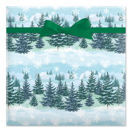 Christmas Forest Rolled Gift Wrap