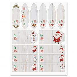 Santa & Friends Labels