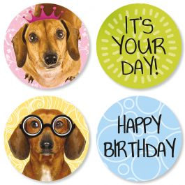 Dachshund Birthday Seals