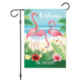 Flamingo Personalized Garden Flag