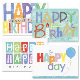 Oh Happy Day Birthday Cards - Set 8