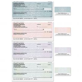 Royal Floral Duplicate Checks with Matching Labels
