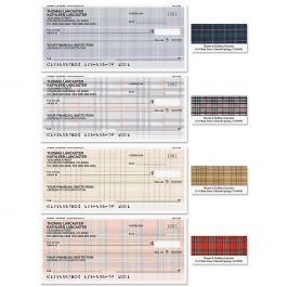 Plaid Single Checks with Matching Labels