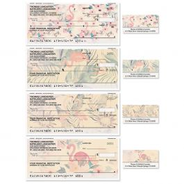 Flamingo Single Checks with Matching Labels