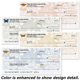 Natural Butterfly Single Checks