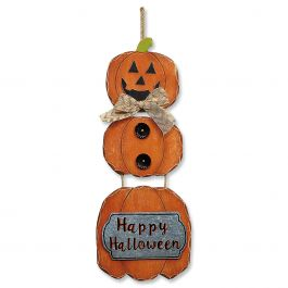 Pumpkin Happy Halloween Wall Hanging