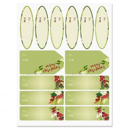 Christmas Wreaths Labels
