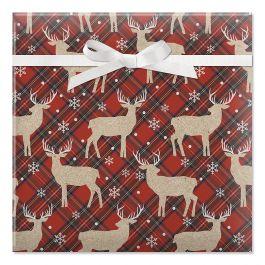 Woodland Deer  Jumbo Rolled Gift Wrap
