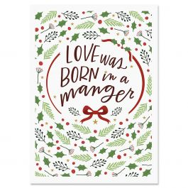 Love Was Born Christmas Cards - Nonpersonalized