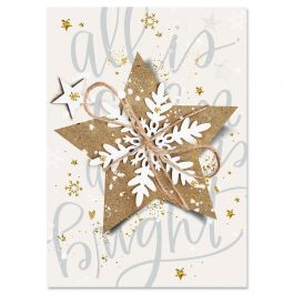 Christmas Star Christmas Cards - Non-personalized