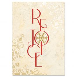 Rejoice Snowflake Christmas Cards - Non-personalized