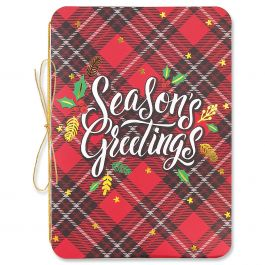 Diecut Plaid Greetings Christmas Cards