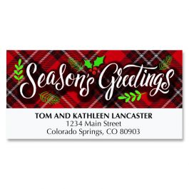 Diecut Plaid Greetings Deluxe Address Labels