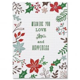 Stitching Sampler Christmas Cards - Nonpersonalized